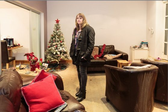 Andrea Moonie at her home in Cults