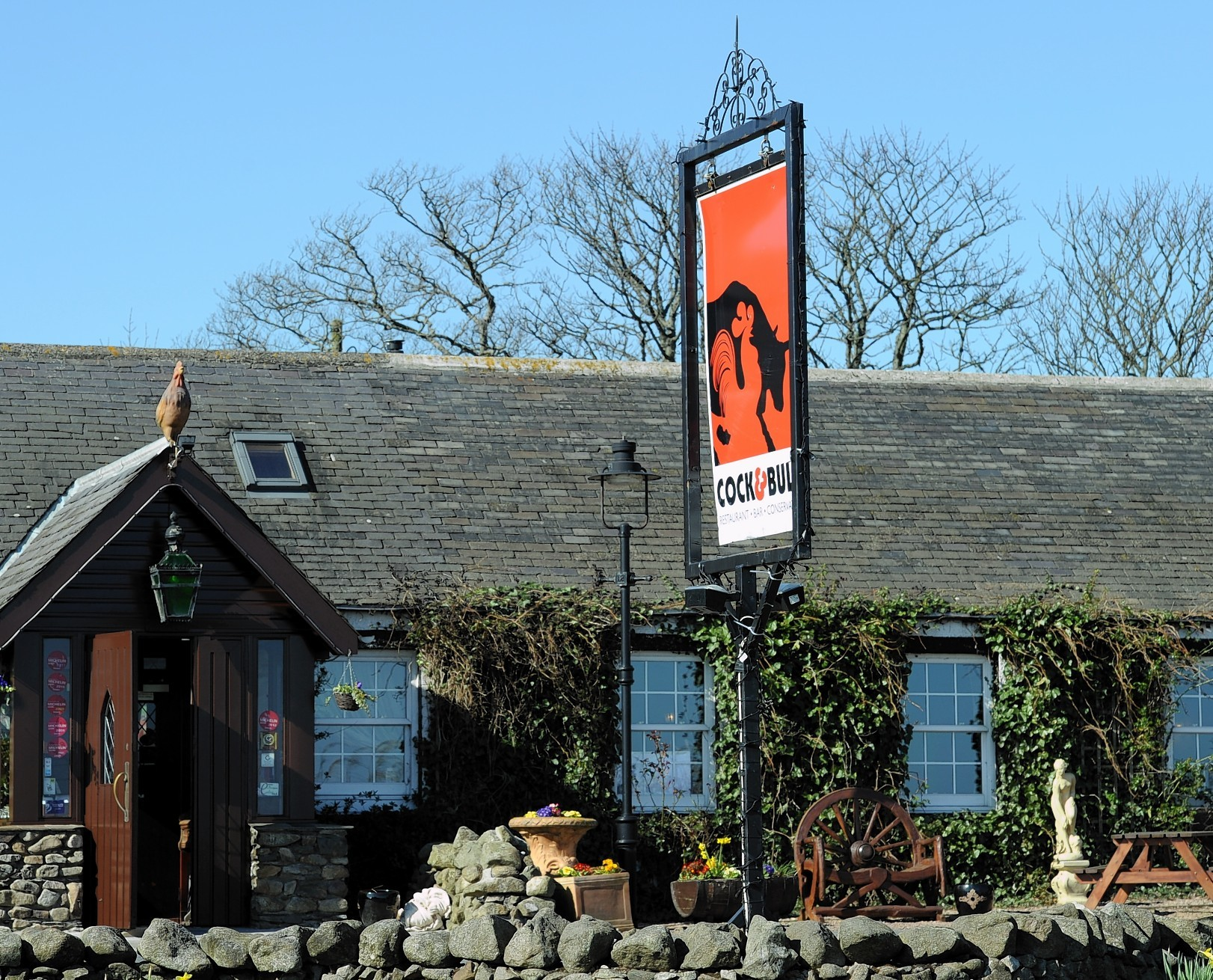 The Cock and Bull restaurant near Balmedie.
