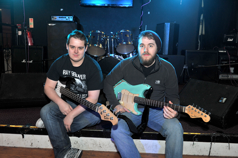Pictured from left, Gav Bassett and David McGhie of Downstairs