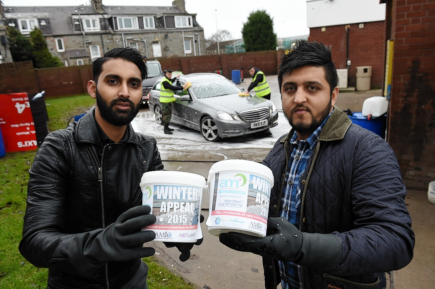 Sumon Hoque, founder of Aberdeen Muslims, and Humza Malik, Splash Autocare owner. Picture by Kenny Elrick
