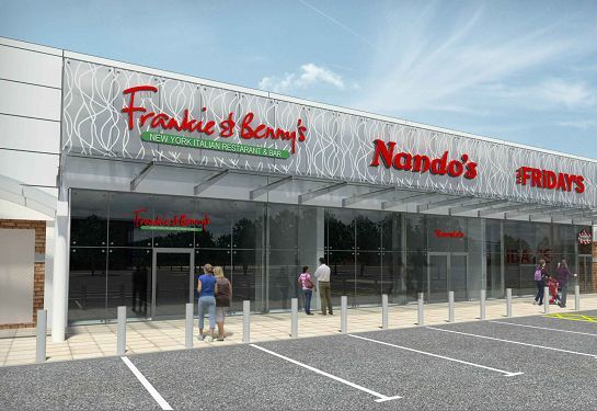 An artist's impression of the expanded retail park