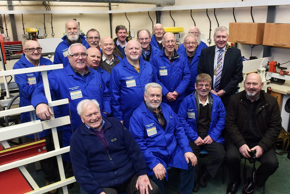 Members of the Inverurie Men's Shed group