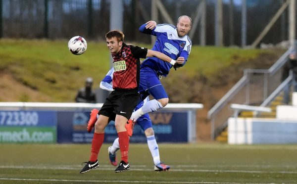 Stuart Duff playing for Cove Rangers against Inverurie Locos.