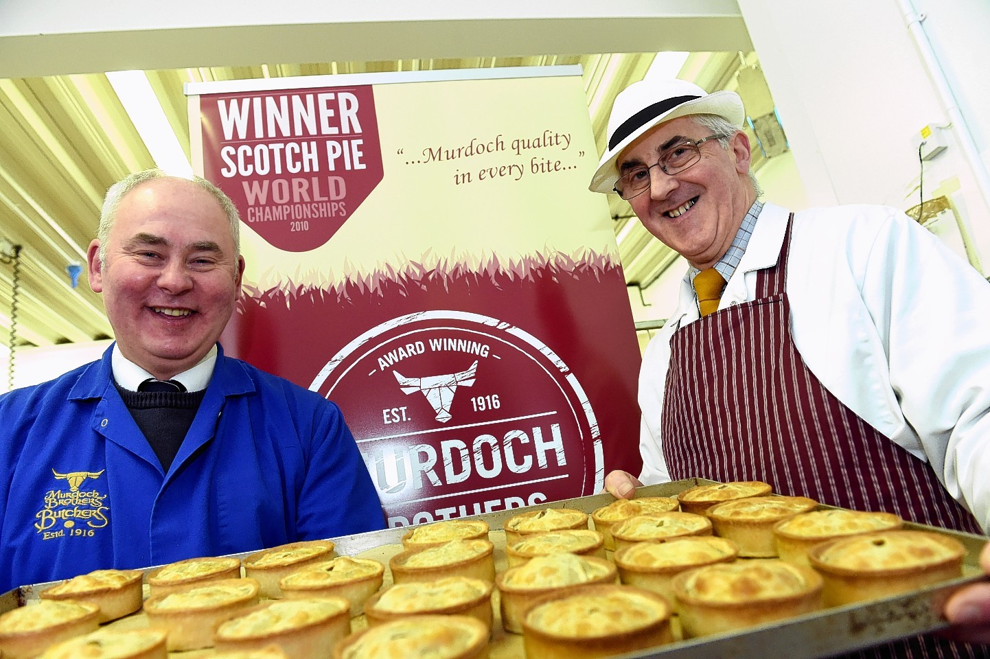 Ronnie Murdoch and Graham Murdoch at their butcher shop in High Street, Forres. Picture by Gordon Lennox