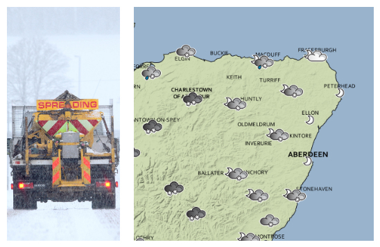 Snow has been forecast across the north-east.
