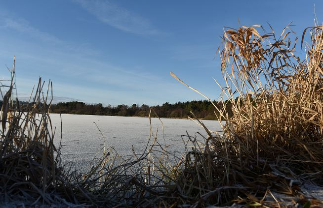 Loch of Skene shows signs of the plummeting temperature. (Picture: Colin Rennie)