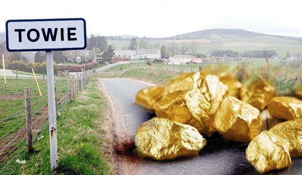 Rock laden with gold has been discovered across the area