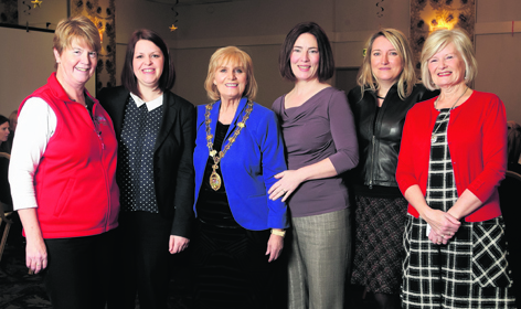 Helen Carmichael, Provost of Inverness, third from left, with Highland Business Women committee members Isla Cruden, Victoria Leslie, Laura Bruce, Angela Wilson and Hilary Cartwright