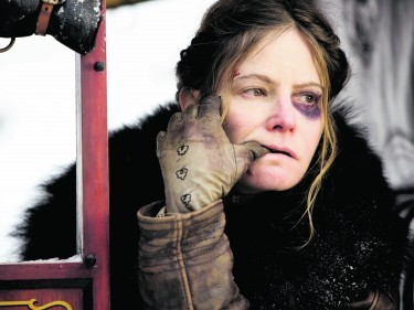 Undated Film Still Handout from THE HATEFUL EIGHT. Pictured: JENNIFER JASON LEIGH. See PA Feature FILM Reviews. Picture credit should read: PA Photo/The Weinstein Company. WARNING: This picture must only be used to accompany PA Feature FILM Reviews.