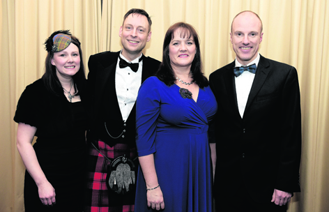 Fiona and Liam Kerr with Therese Jackson and  Karl Lebedis