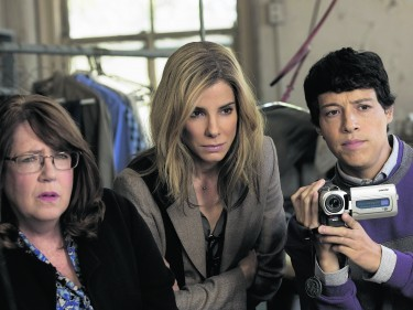 Sandra Bullock, centre, steals the show in Our Brand Is Crisis