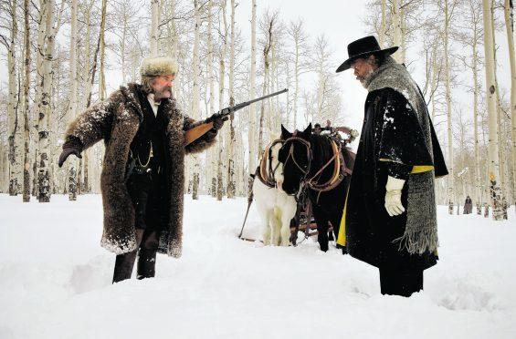 Kurt Russell, left, and Samuel L. Jackson in Quentin Tarantino's The Hateful Eight
