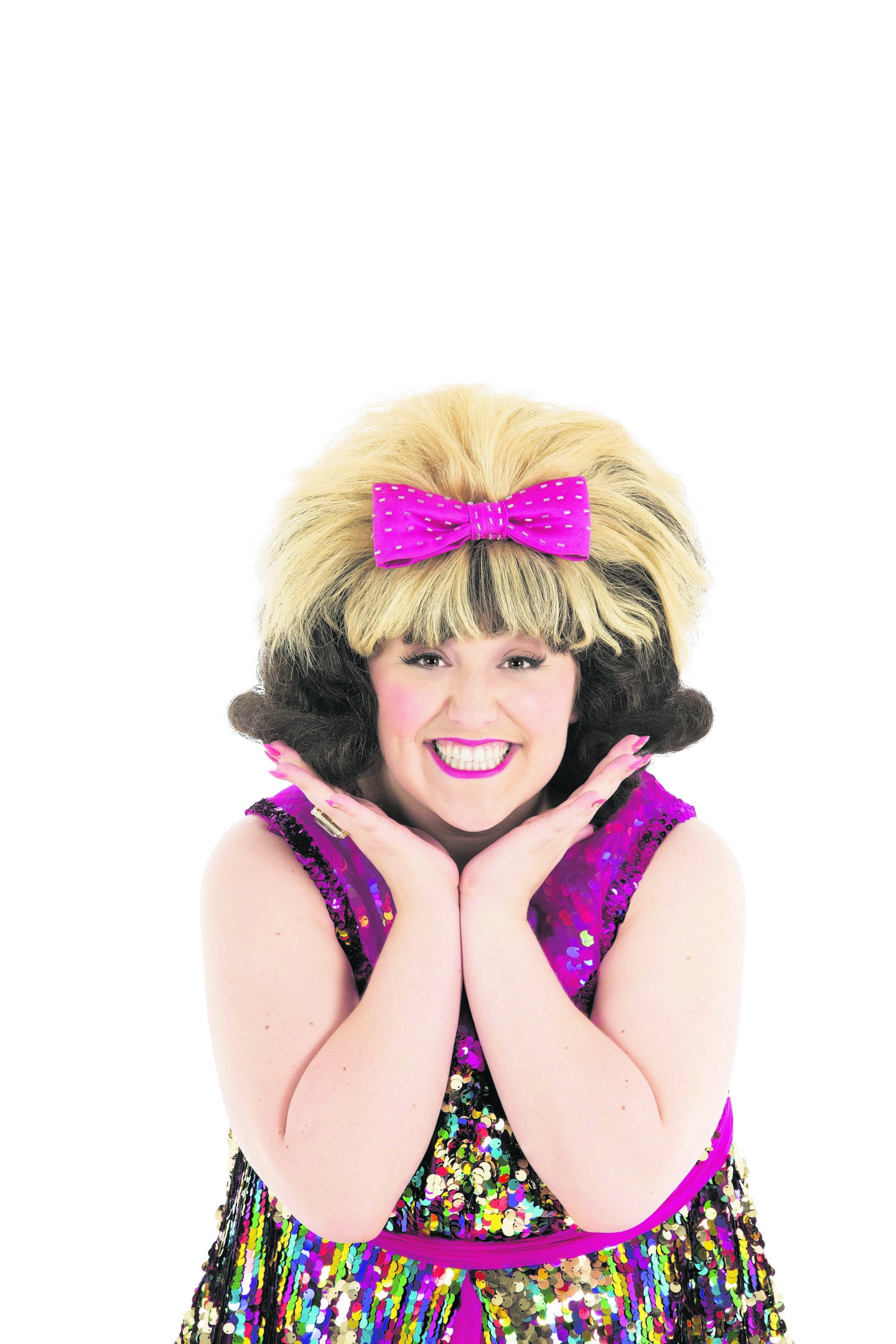 Freya Sutton as Tracy Turnblad  in Hairspray. PHOTOS: Ellie Kurttz