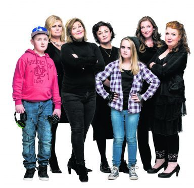 Leading ladies, from left:  Suzie McGuire, Jane McCarry, Lorraine McIntosh, Julie Wilson Nimmo and Libby McArthur star in Mum's The Word 2