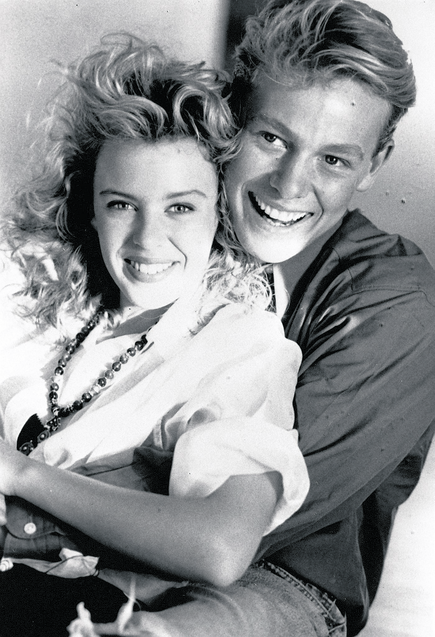 Jason Donovan with Kylie Minogue back in 1988