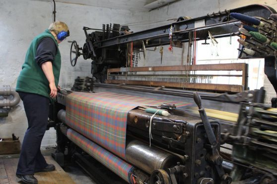 The tartan was made on a loom at Knockando Mill, Aberlour