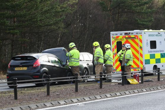 The first accident happened on the A9 Dornoch to Inverness road