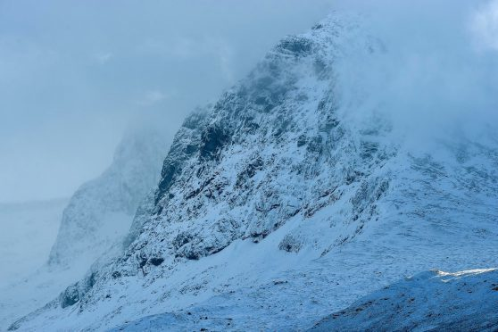 Snow on the north face of Ben Nevis
