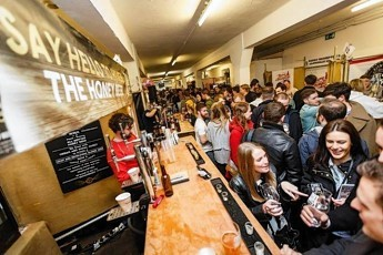 Beer enthusiasts attending Craft Beer Rising 2015