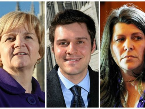 Jenny Laing, Ross Thomson and Marie Boulton