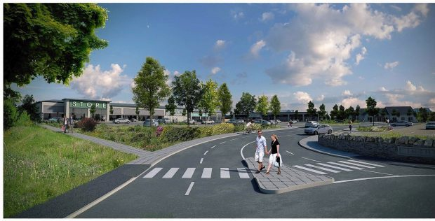 An artists impression of the refused Dell of Inshes retail park