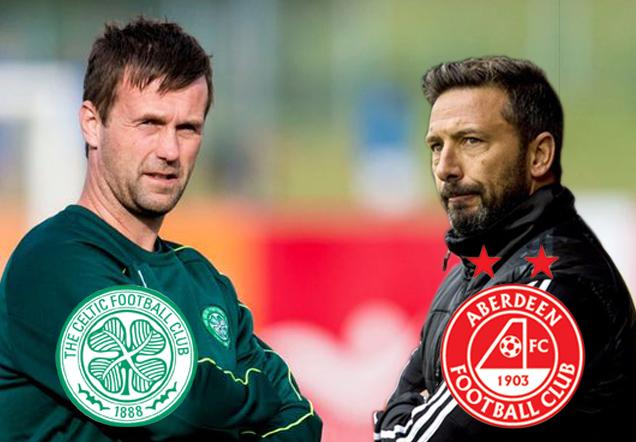 Derek McInnes' Aberdeen take on Ronny Deila's Celtic this afternoon