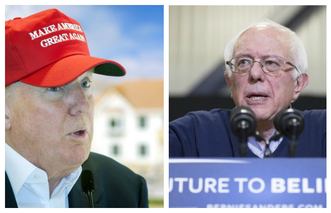 Donald Trump & Bernie Sanders