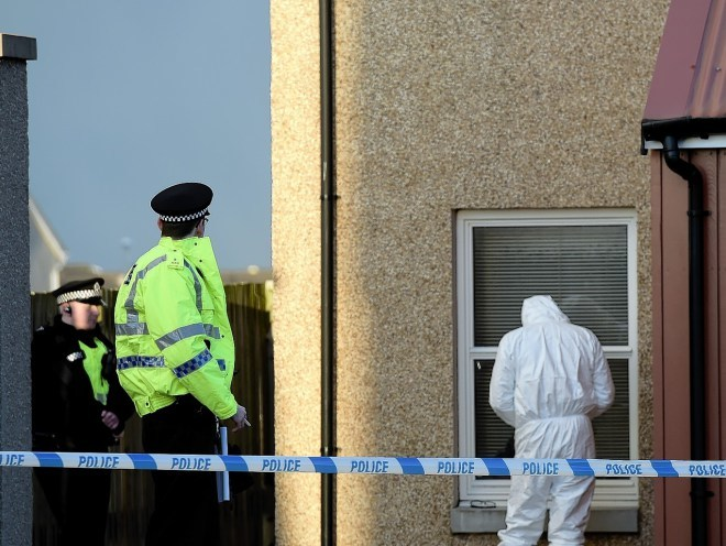 Police Scotland and forensics at a home in Westshore Gardens, Fraserburgh.    Picture by Kami Thomson