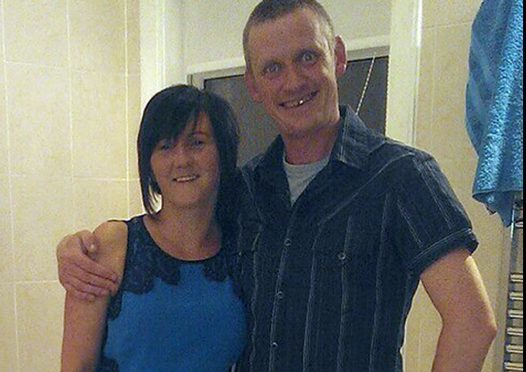 Gareth Crowe with partner Catherine Hughes