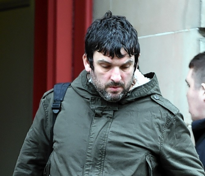 Scott Graham leaving Elgin Sheriff Court.