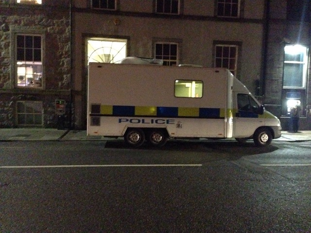 Police at the scene on Union Terrace, Aberdeen