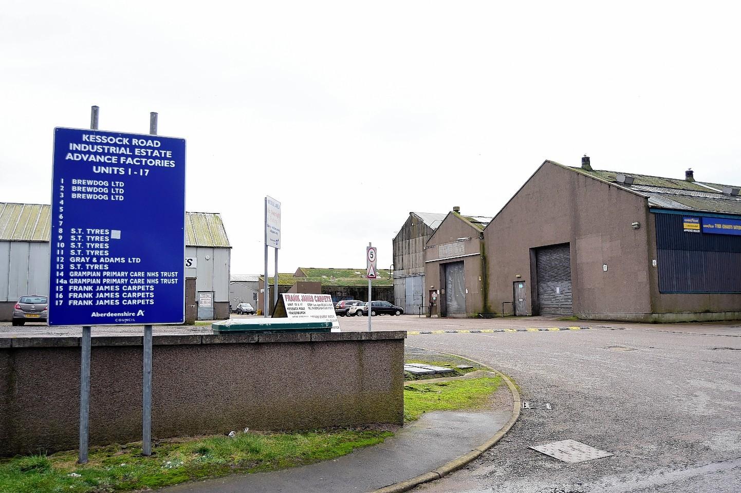 The Kessock Industrial Estate.