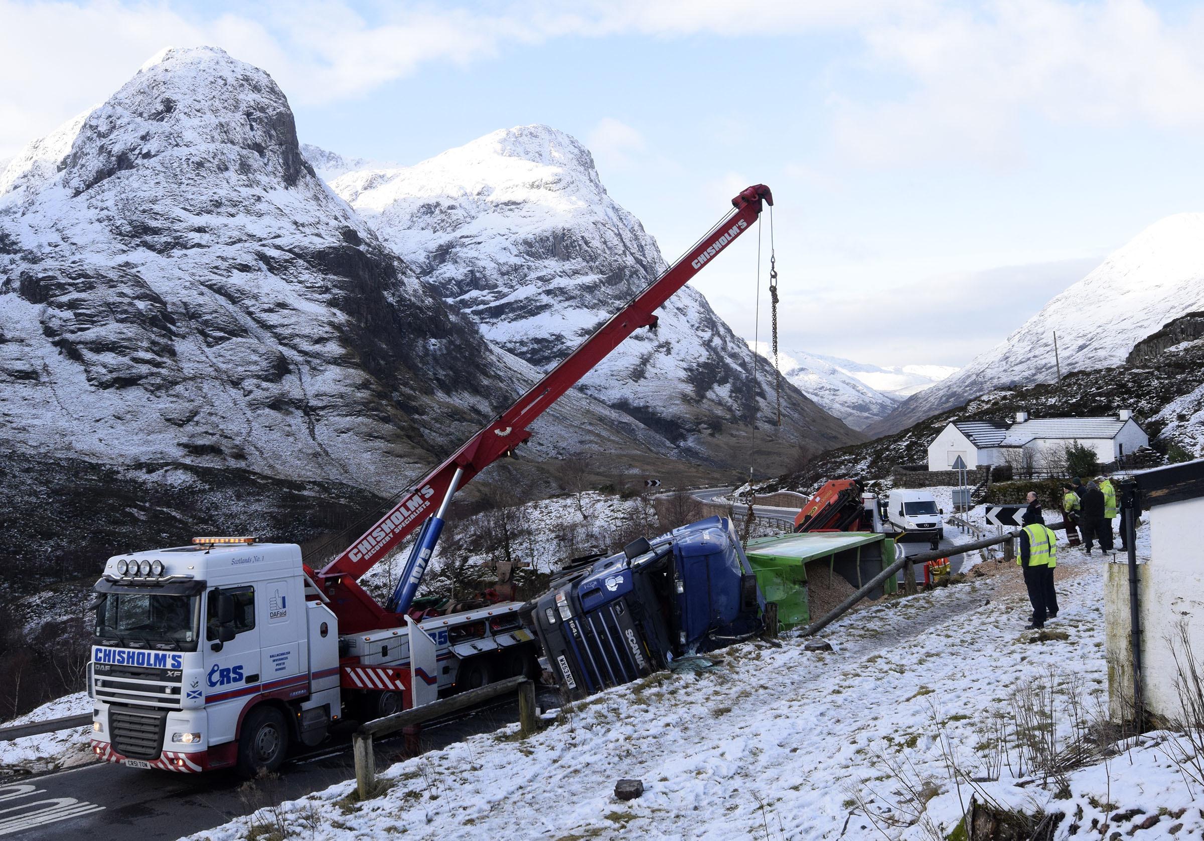 Glencoe lorry crash