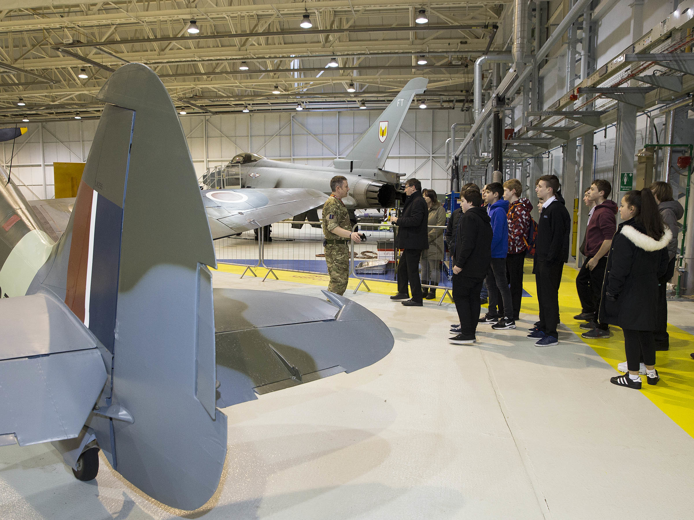 Pupils from Elgin High School engineering team recently visited RAF Lossiemouth