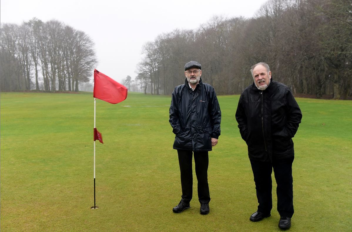 Vice Captain Iain Campbell and Captain Mitch Cabel at the McDonald Golf Club.