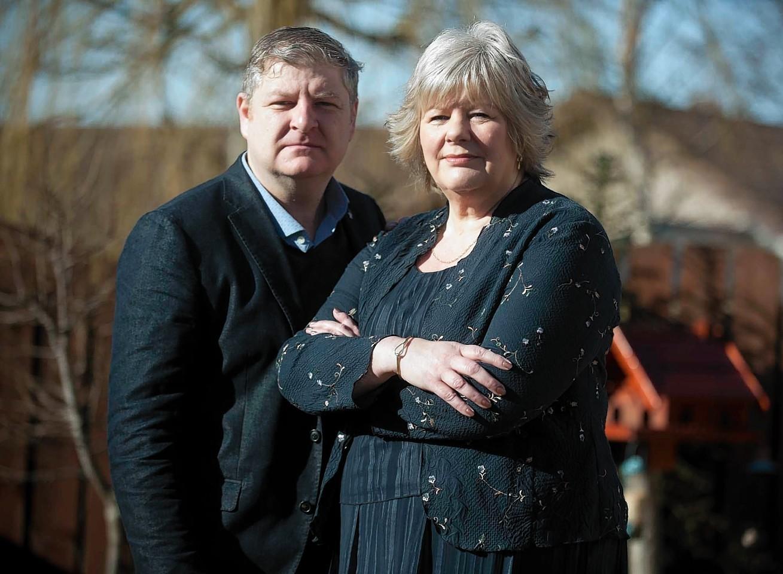 Maureen Jarvis with MP Angus Robertson