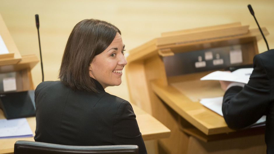 Kezia Dugdale is delivering a speech in Aberdeen today
