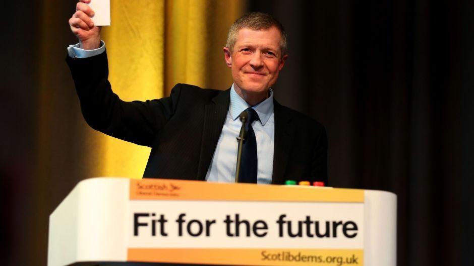 Scottish Liberal Democrat leader Willie Rennie speaking during the Scottish Liberal Democrats Spring conference in Edinburgh