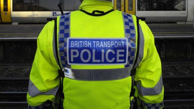British Transport Police officers