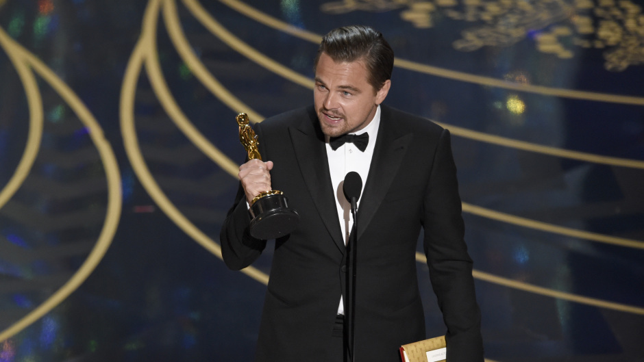Leonardo DiCaprio wins best actor for The Revenant at the Oscars (Invision/AP)