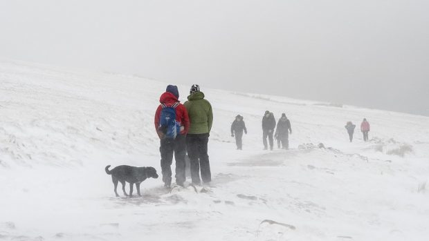 Mountaineers all over Scotland were delighted by the perfect winter conditions last weekend