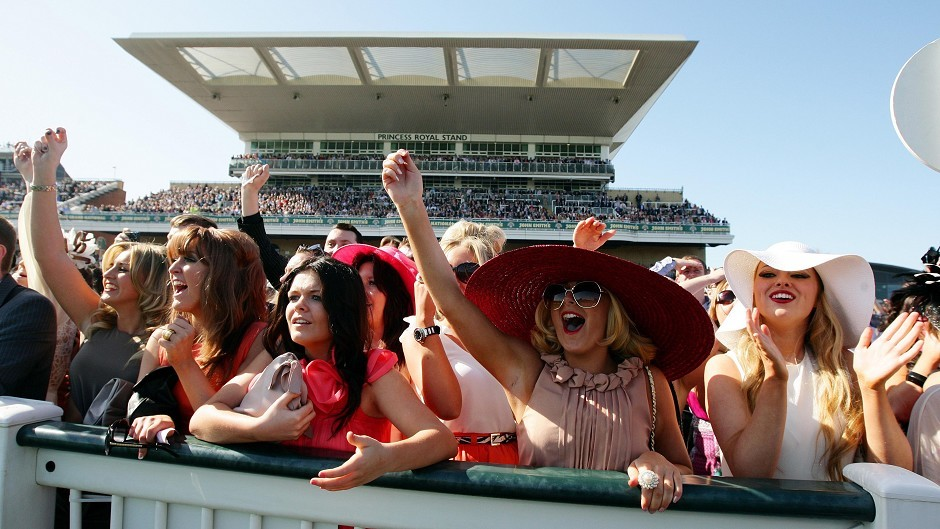 Crowds watch on at last year's Grand National