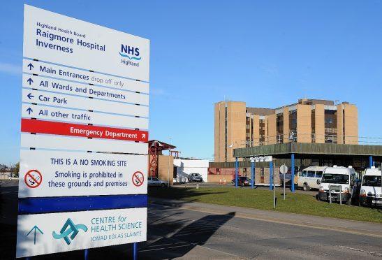 Raigmore Hospital in Inverness.