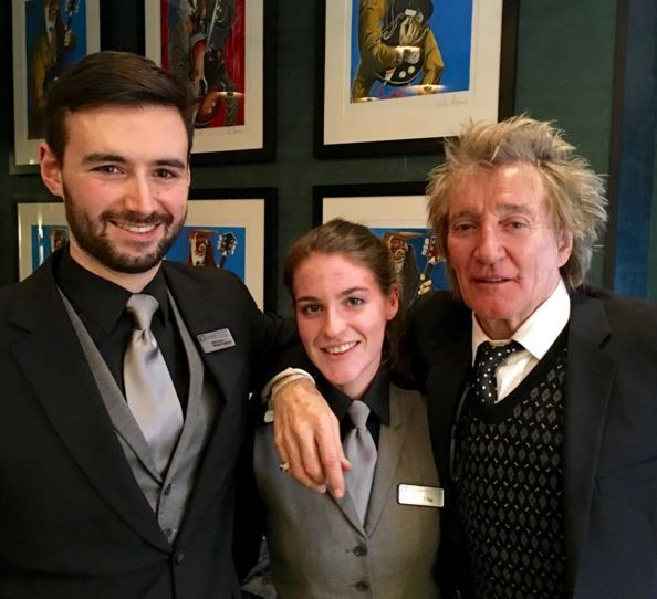 Rod Stewart popped into the Chester Hotel