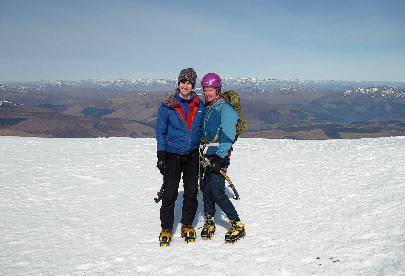 Young climbers Tim Newton and Rachel Slater went missing on Ben Nevis in February