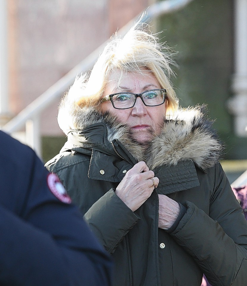 Ursula Hayajneh at court in Inverness yesterday