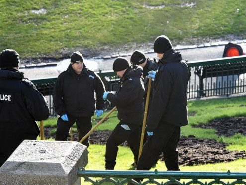 Forensic teams carried out investigations last week