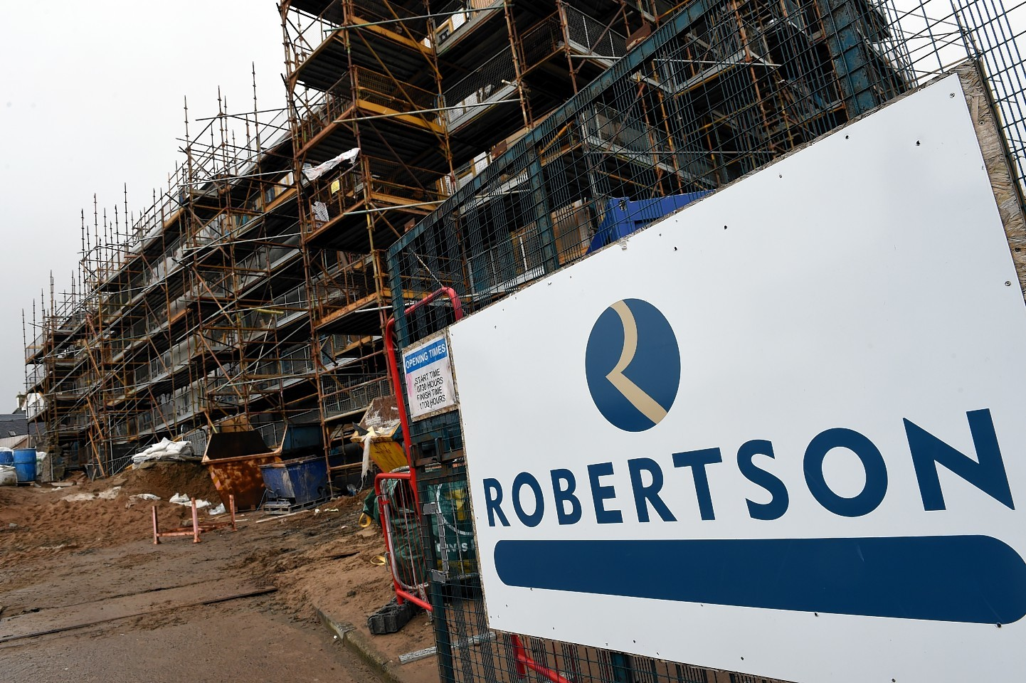Robertson's shelterd housing building project in North Road, Forres