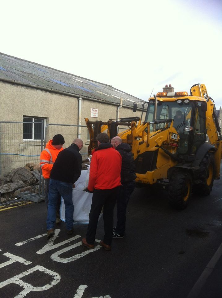 The Chiels helped deliver and clear sandbags in Ballater