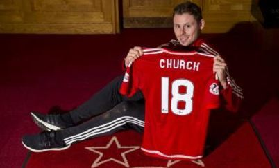 New Dons signing Simon Church